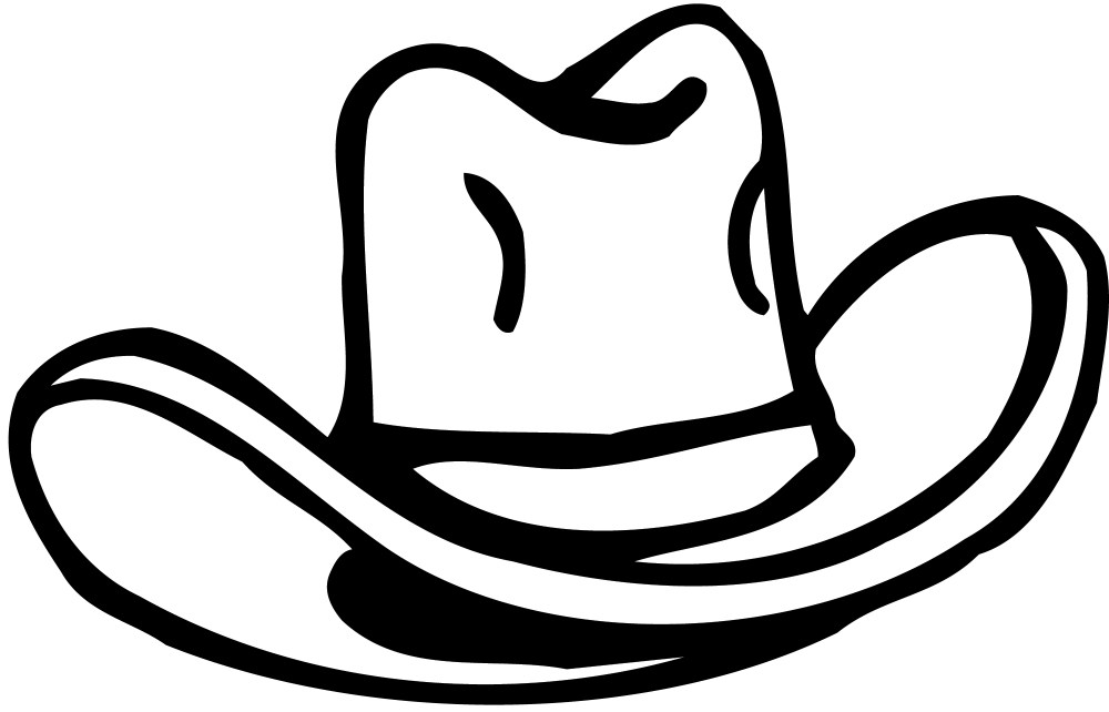 medium resolution of clipart outline cowboy hat with heart