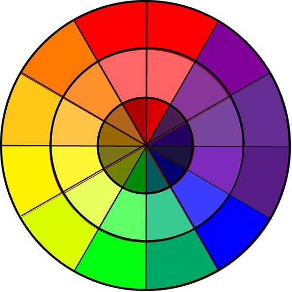 Color Wheel Clip Art