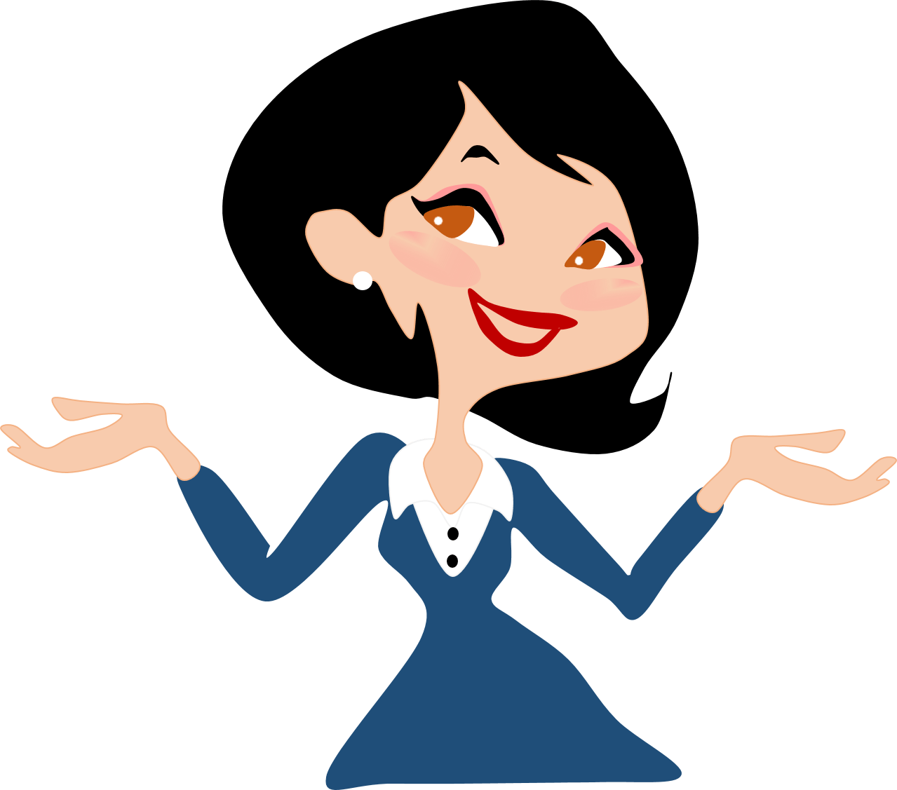 hight resolution of working woman clip art