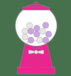 bubble gum machine clipart [ 1500 x 1500 Pixel ]