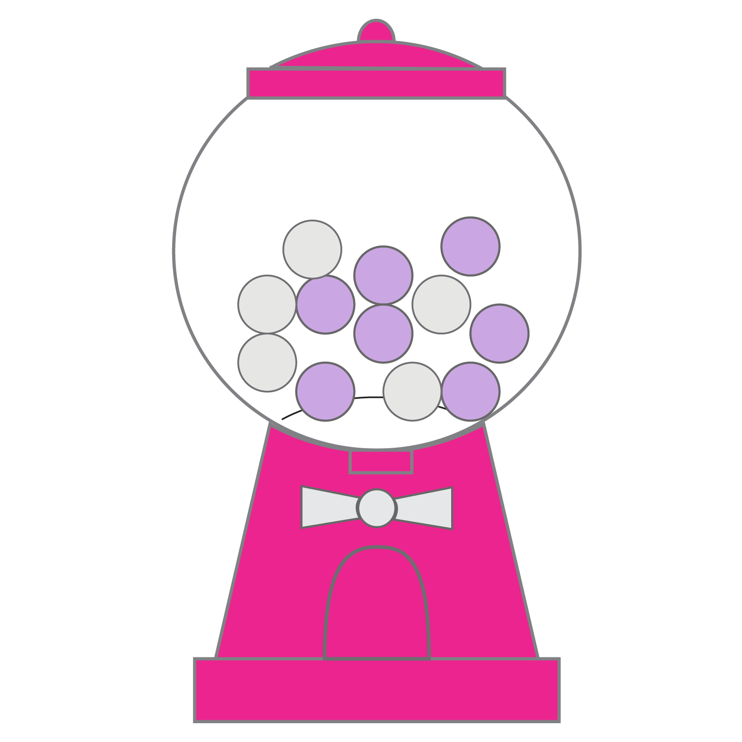 hight resolution of bubble gum machine clipart