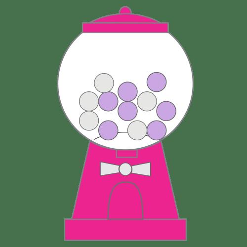 small resolution of bubble gum machine clipart