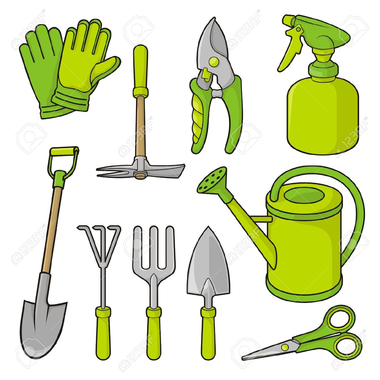 Garden Tools Clipart Gardening Black And White Ideas
