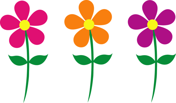 Cartoon Spring Flowers Clip Art
