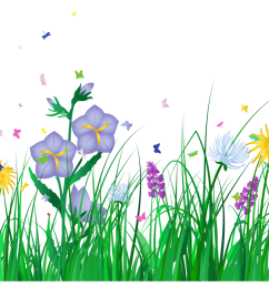 spring image clipart transparent grass and flowers clipart png m 1399672800 [ 1200 x 926 Pixel ]