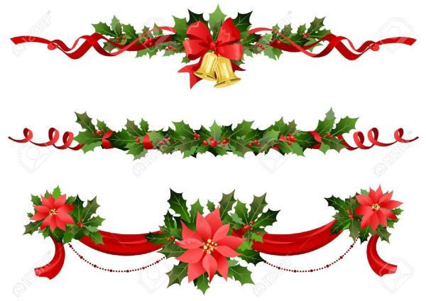 holiday wreath border clipart