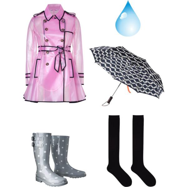 clothes rainy days clipart