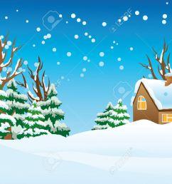 60 winter landscape clip art [ 1300 x 955 Pixel ]