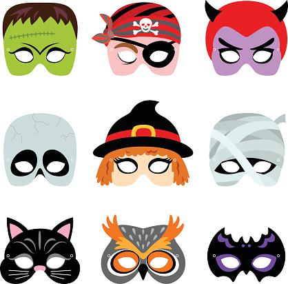 cute halloween mask clipart