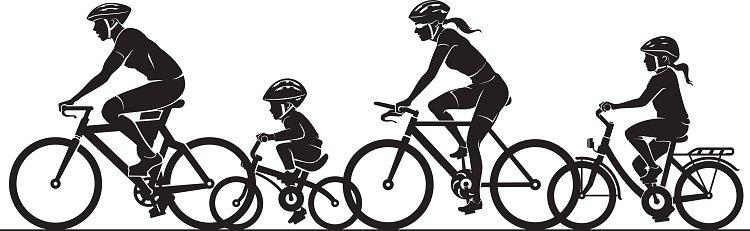 medium resolution of family bike ride clipart silhouette