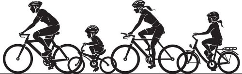 small resolution of family bike ride clipart silhouette