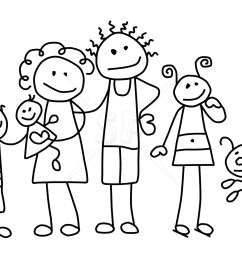 family black and white clipart [ 1800 x 1200 Pixel ]