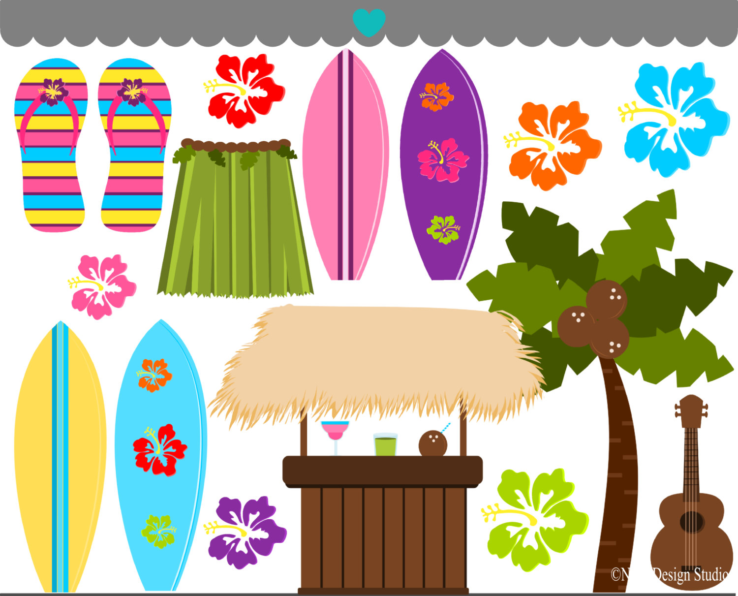 hight resolution of beautiful hawaiian cliparts 2697236 license personal use