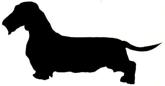 free dachshund outline cliparts
