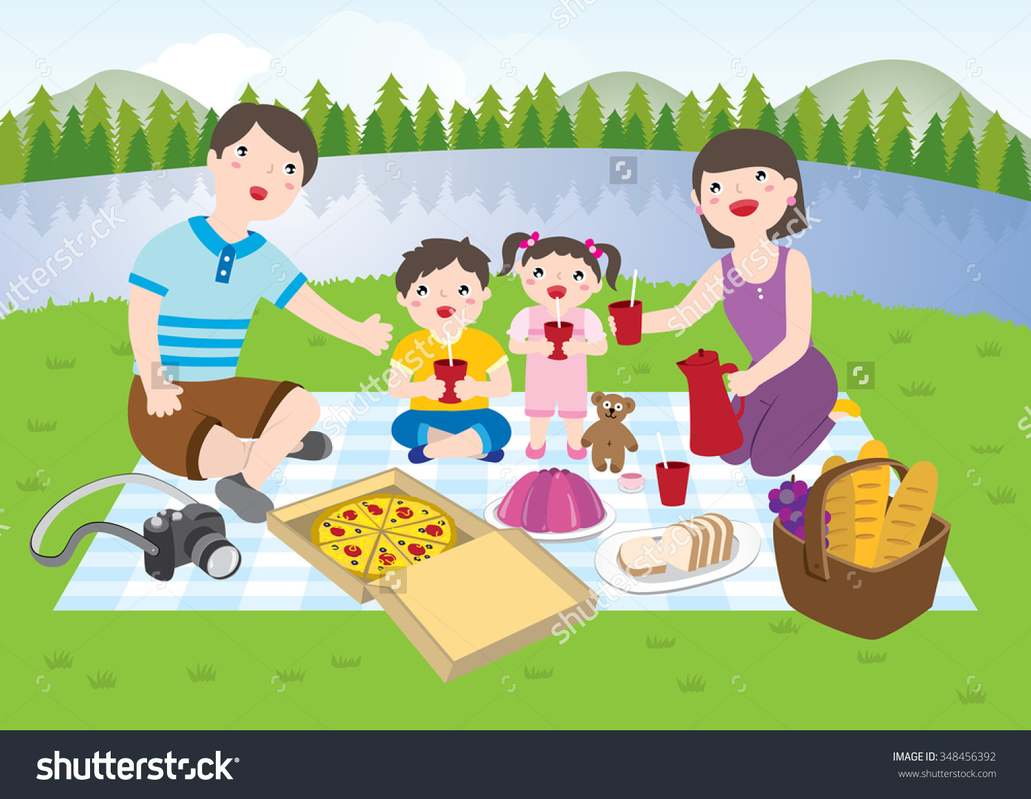 hight resolution of family picnic clipart picnic