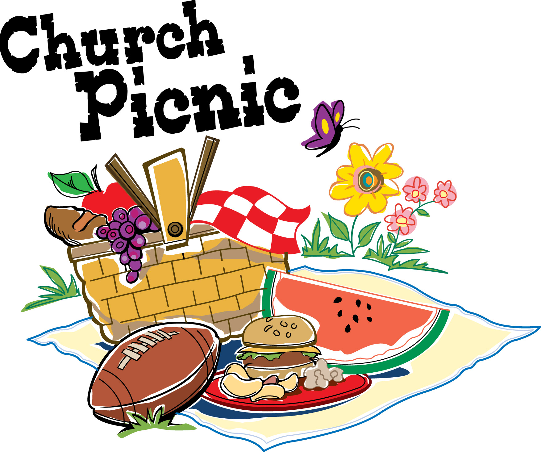 hight resolution of picnic at the park clipart family