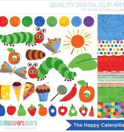 hungry caterpillar butterfly clipart [ 1500 x 1500 Pixel ]