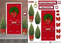 Christmas Front Door Clipart Decorating Ideas 46445 Doors ...