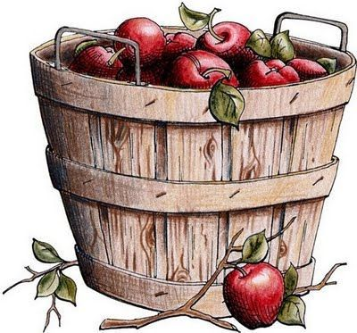 free apple bucket cliparts