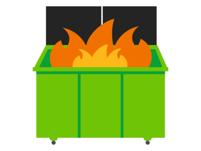 free dumpster fire cliparts