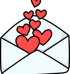free love letter 2 love high resolution clip art [ 1007 x 1156 Pixel ]