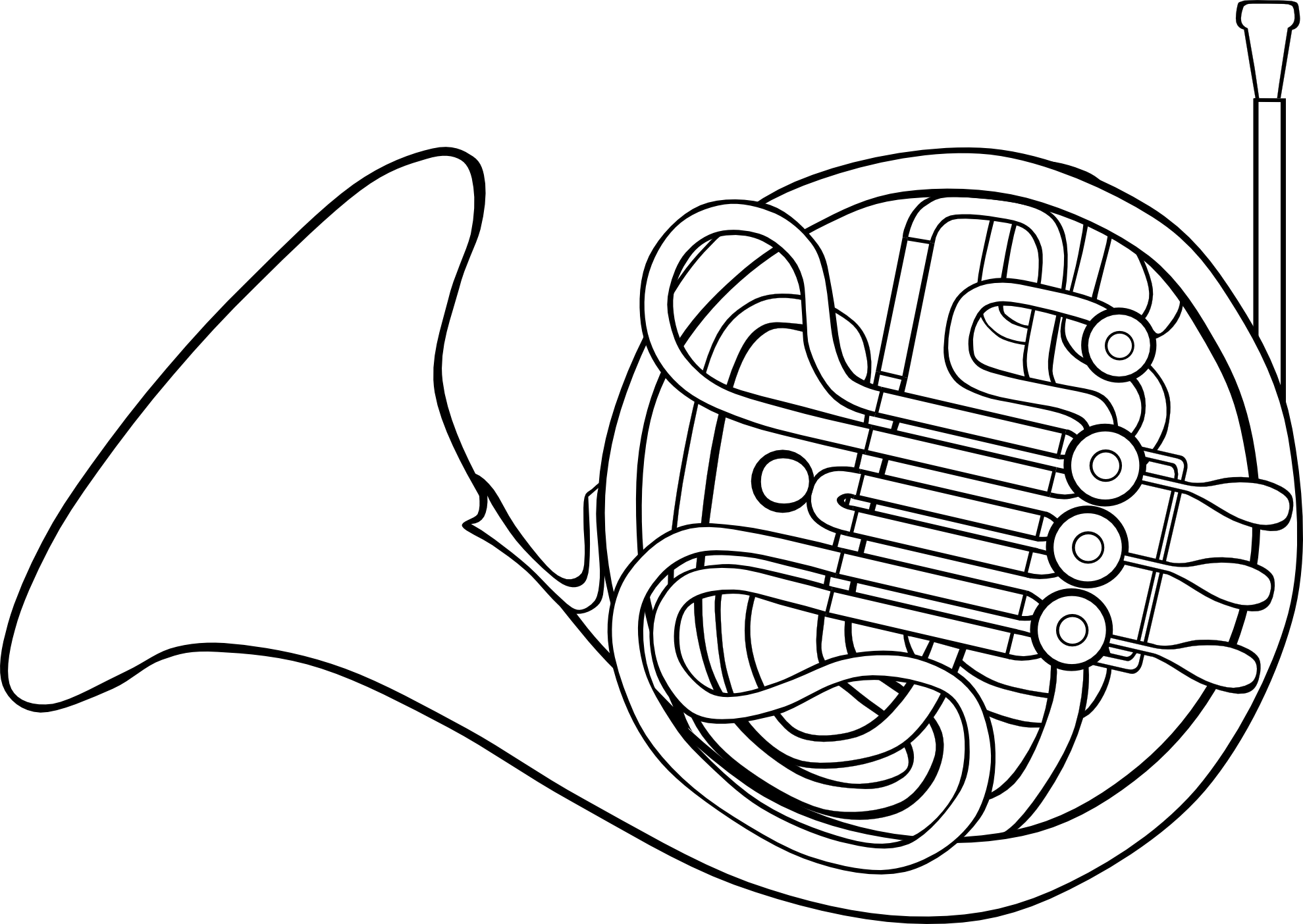 French Horn Clipart Free
