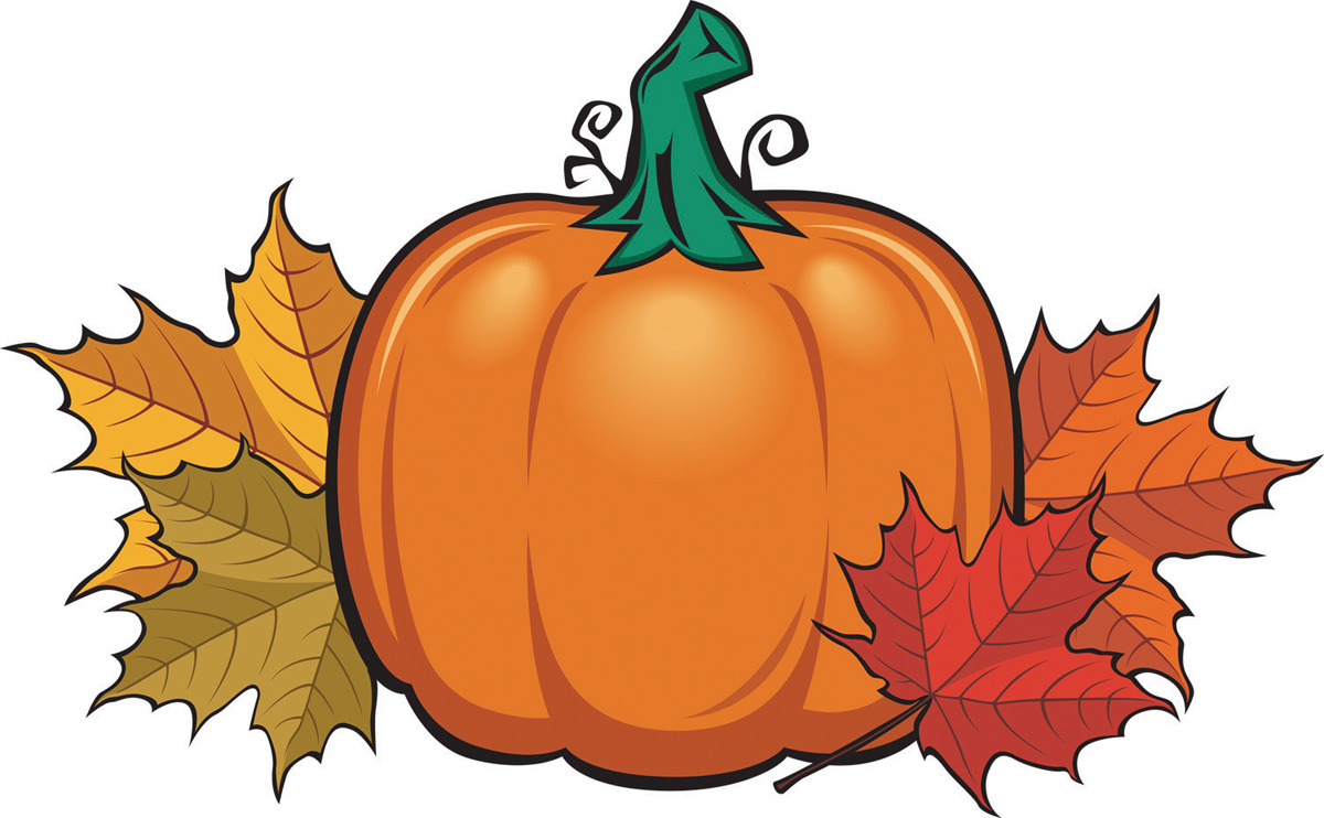 Clipart Pumpkin With Leaves