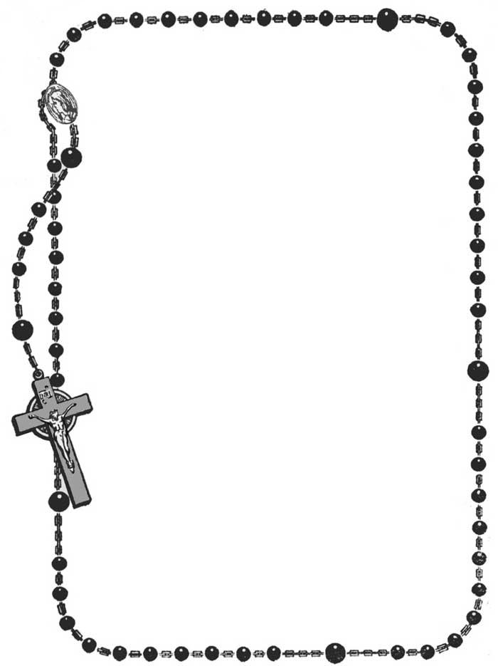 Catholic rosary clipart