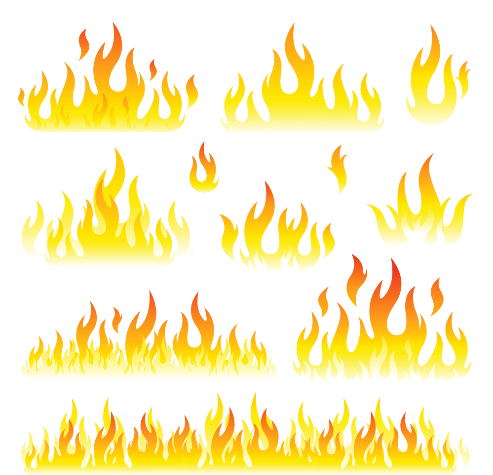 medium resolution of flames set png clipart picture