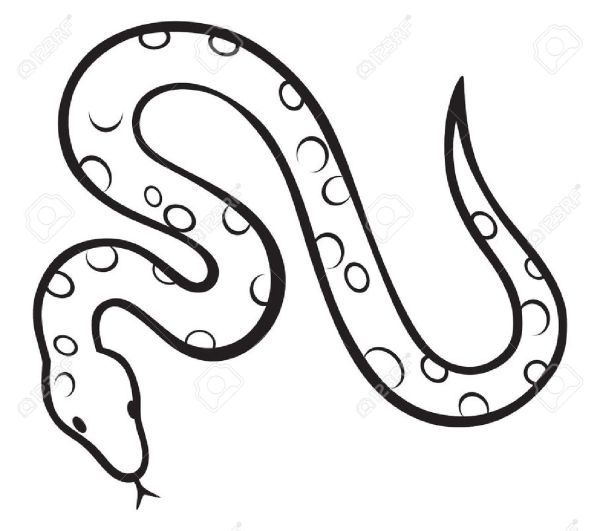 free snake cliparts black