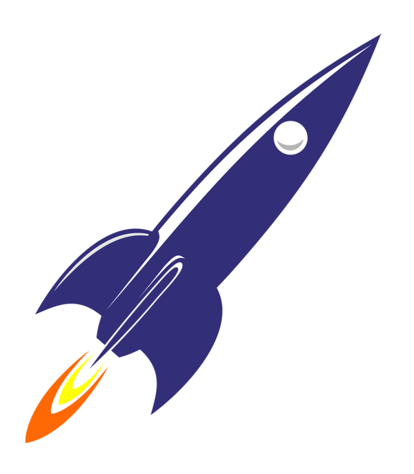 free rocket animated cliparts