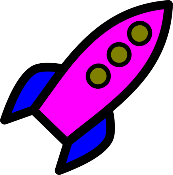 free water rocket cliparts