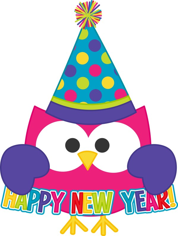 2016 Happy Year Owl Clipart
