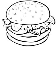 free hamburger cliparts black