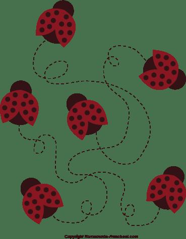 free ladybug flying cliparts