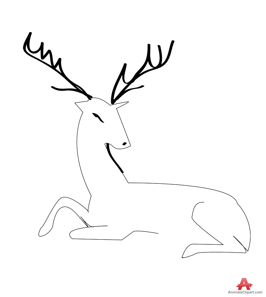 free deer sitting cliparts