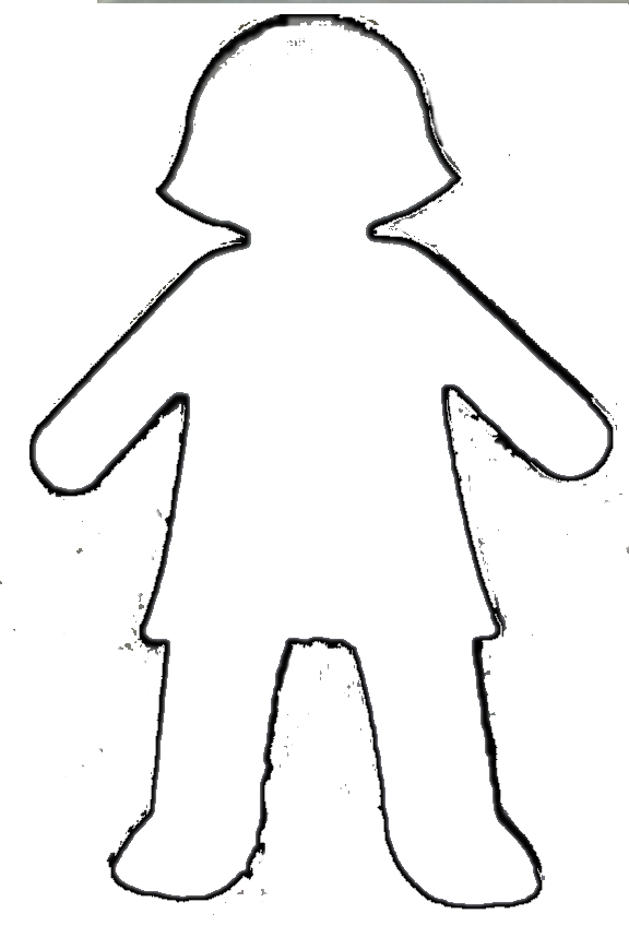 free girl outline cliparts