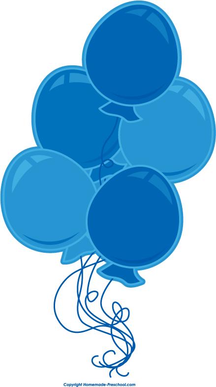 free blue balloon cliparts