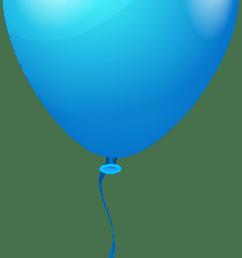 single blueballoon png clipart image [ 2716 x 6301 Pixel ]