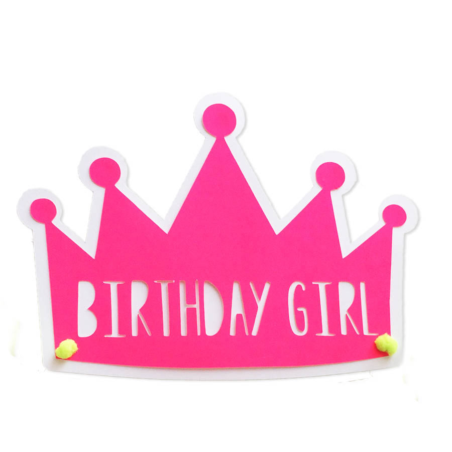 Birthday Girl Crown Printable Clip Art Library