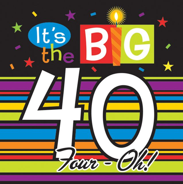 40th birthday sayings clip