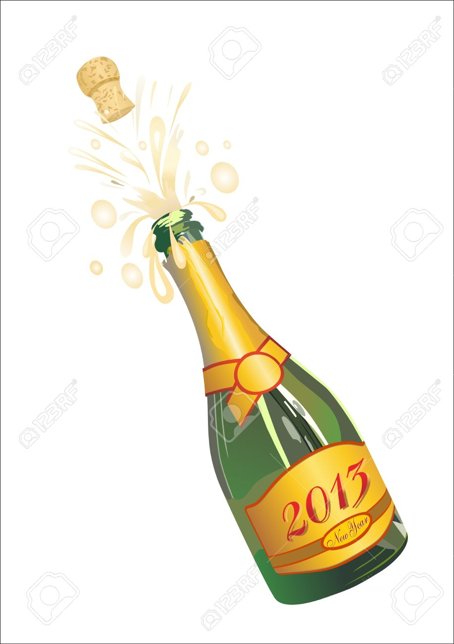 hight resolution of clipart champagne bottle popping
