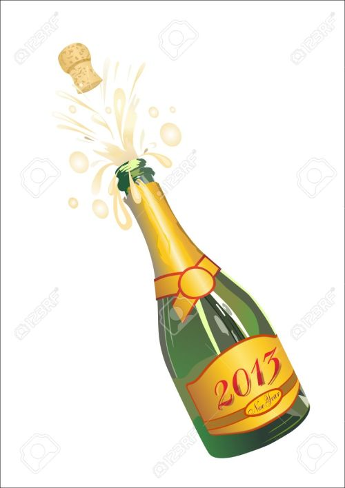 small resolution of clipart champagne bottle popping