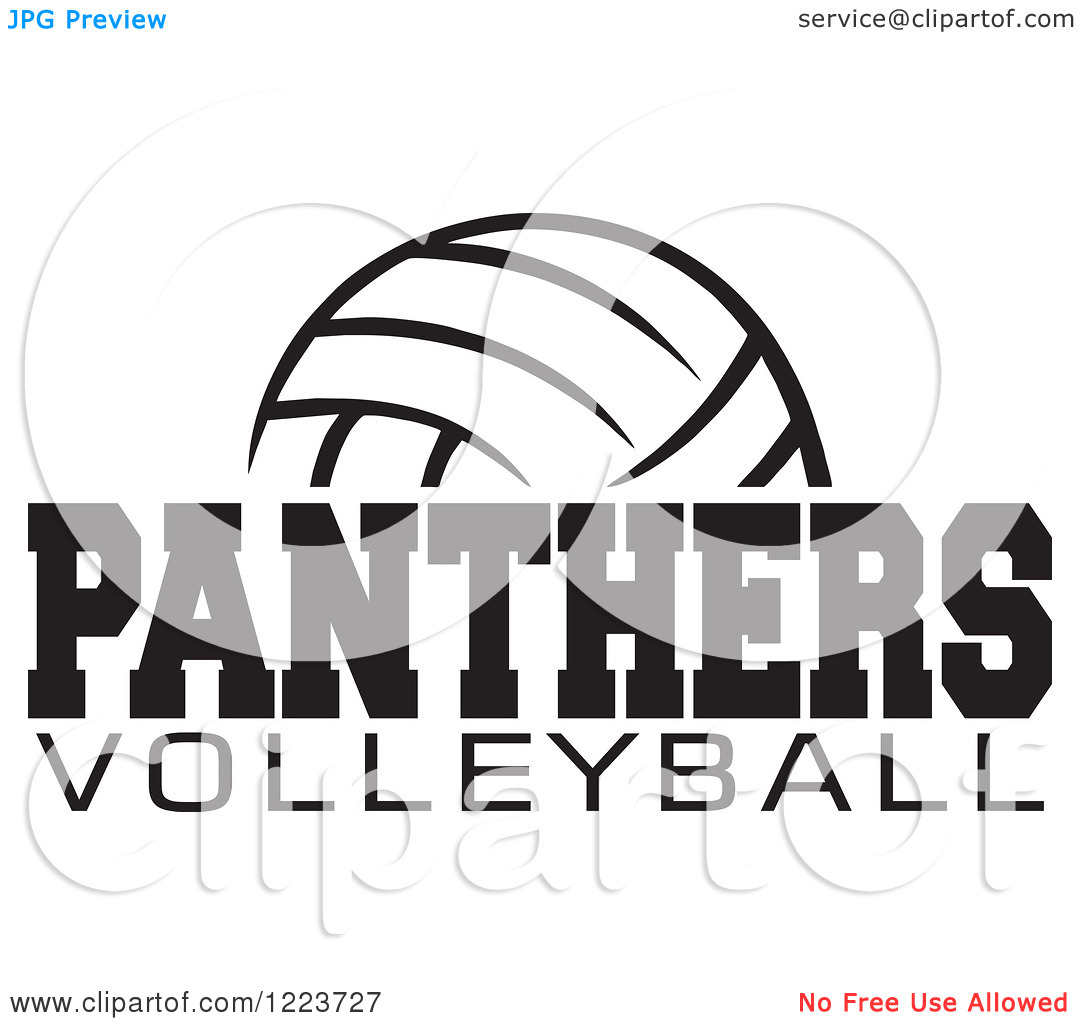 Panther Volleyball Cliparts