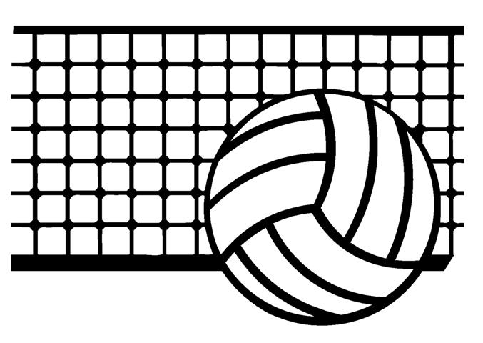 Small volleyball clipart
