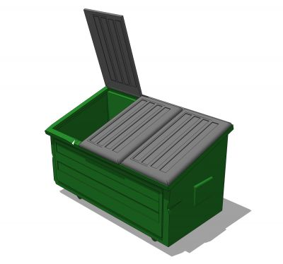 free green dumpster cliparts