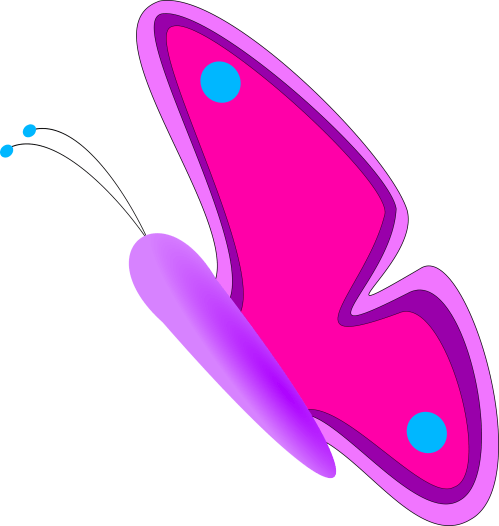 small resolution of half butterfly clipart