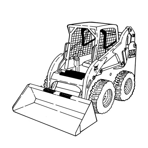 Loader Black And White Clipart