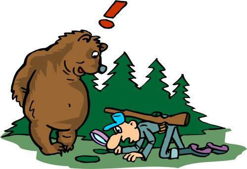 small resolution of bear hunting clipart