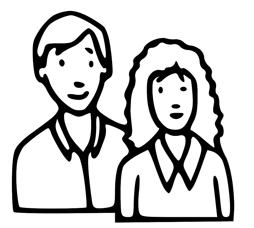 Mother And Father Clipart Black And White